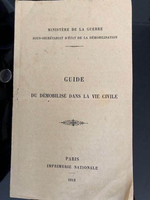 Guide du démobilisé dans la vie civile 1919 Img_7038