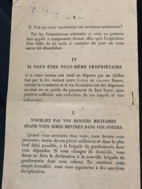 Guide du démobilisé dans la vie civile 1919 Img_7042