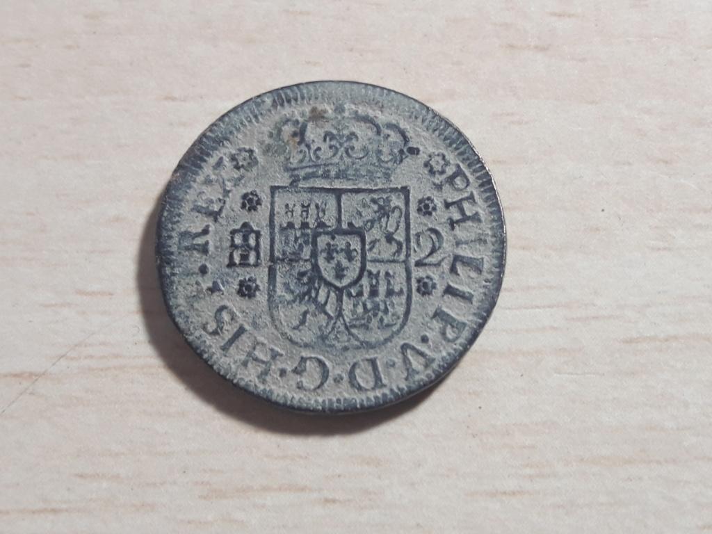 2 maravedís 1745 de Segovia de Felipe V 20180947