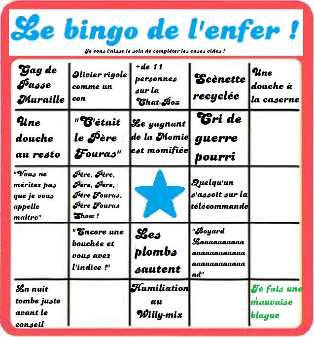 [Spoilers] Présentation > Fort Boyard 2019-05 - CéKeDuBonheur (20/07/2019) Bingo_12