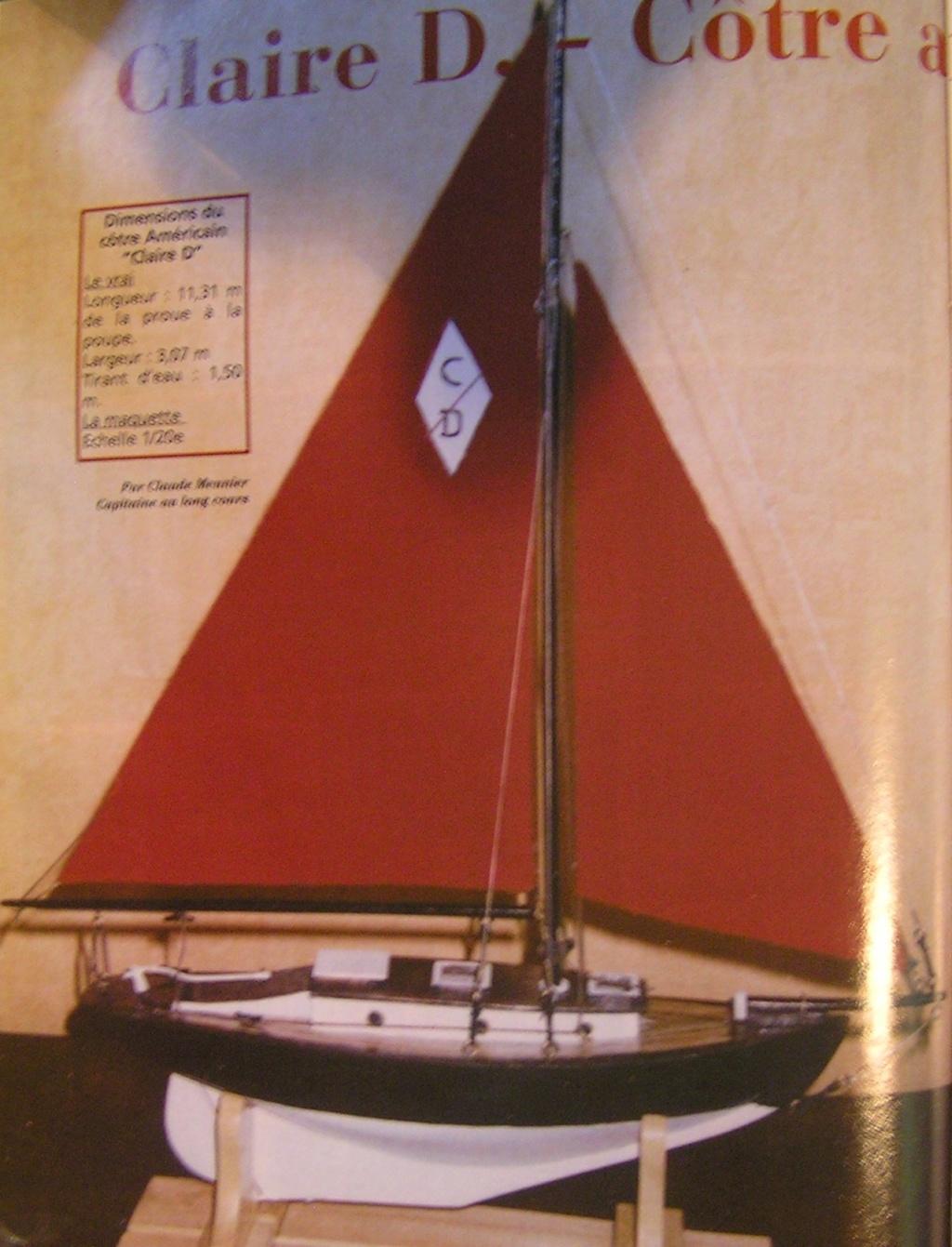 """cotre américain  1939 le """"CLAIRE  D"""" en bateau moule 110"""