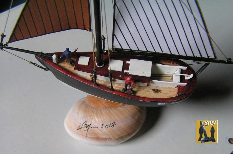 """cotre américain  1939 le """"CLAIRE  D"""" en bateau moule 2011"""