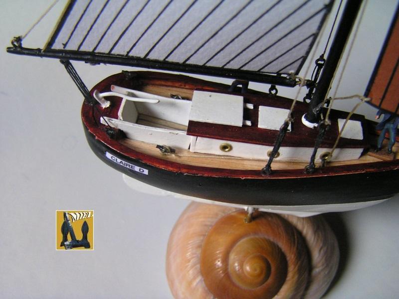 """cotre américain  1939 le """"CLAIRE  D"""" en bateau moule 2112"""
