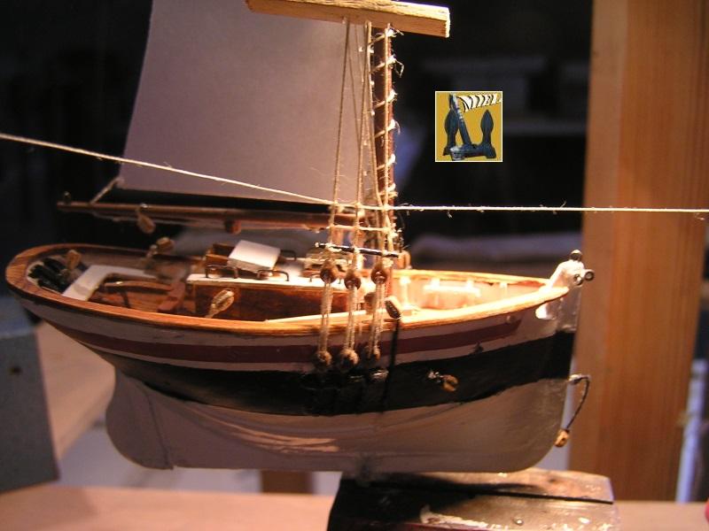 Le St Michel II cotre de Jules Verne en bareau-moule Ech: 1/1350 ème 3911