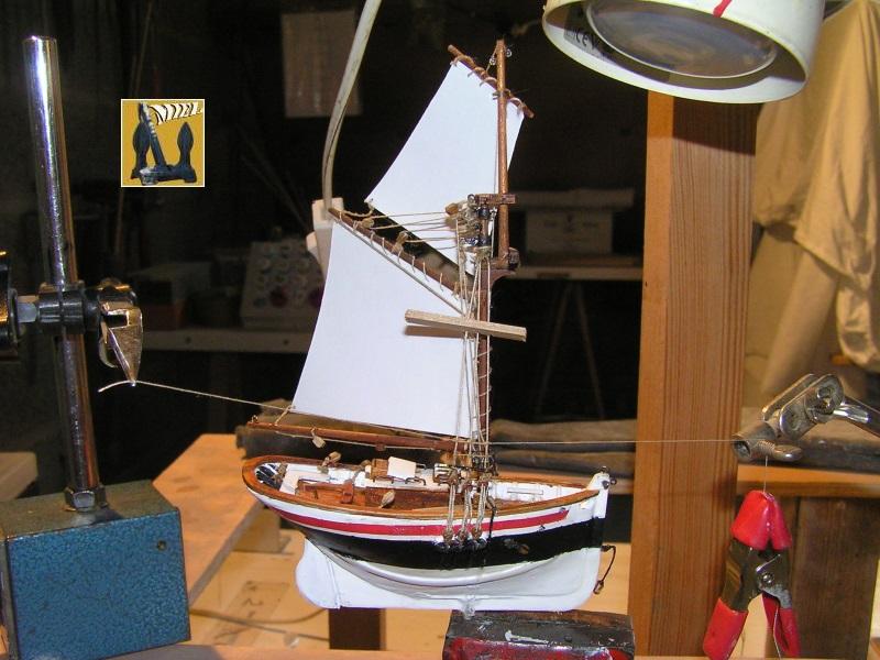 Le St Michel II cotre de Jules Verne en bareau-moule Ech: 1/1350 ème 4011
