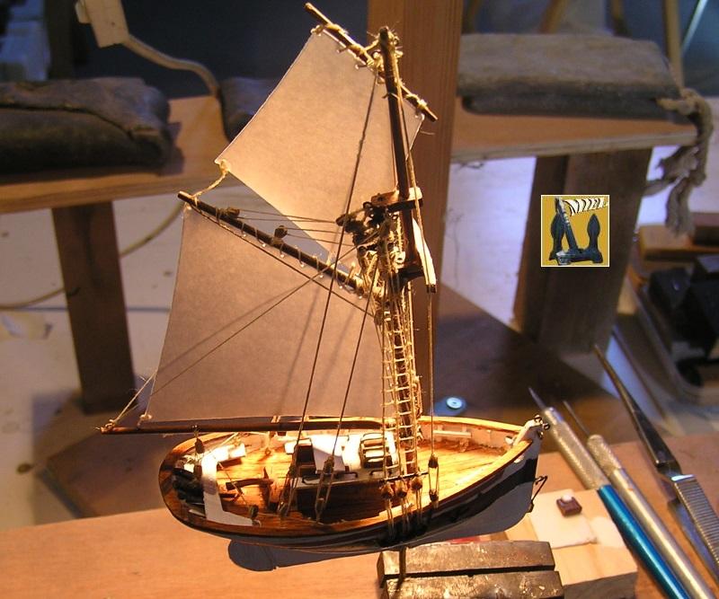Le St Michel II cotre de Jules Verne en bareau-moule Ech: 1/1350 ème 4111