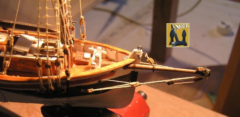 Le St Michel II cotre de Jules Verne en bareau-moule Ech: 1/1350 ème 4310
