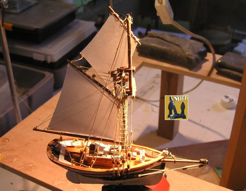 Le St Michel II cotre de Jules Verne en bareau-moule Ech: 1/1350 ème 4410
