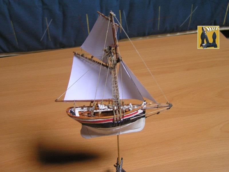 Le St Michel II cotre de Jules Verne en bareau-moule Ech: 1/1350 ème 4510