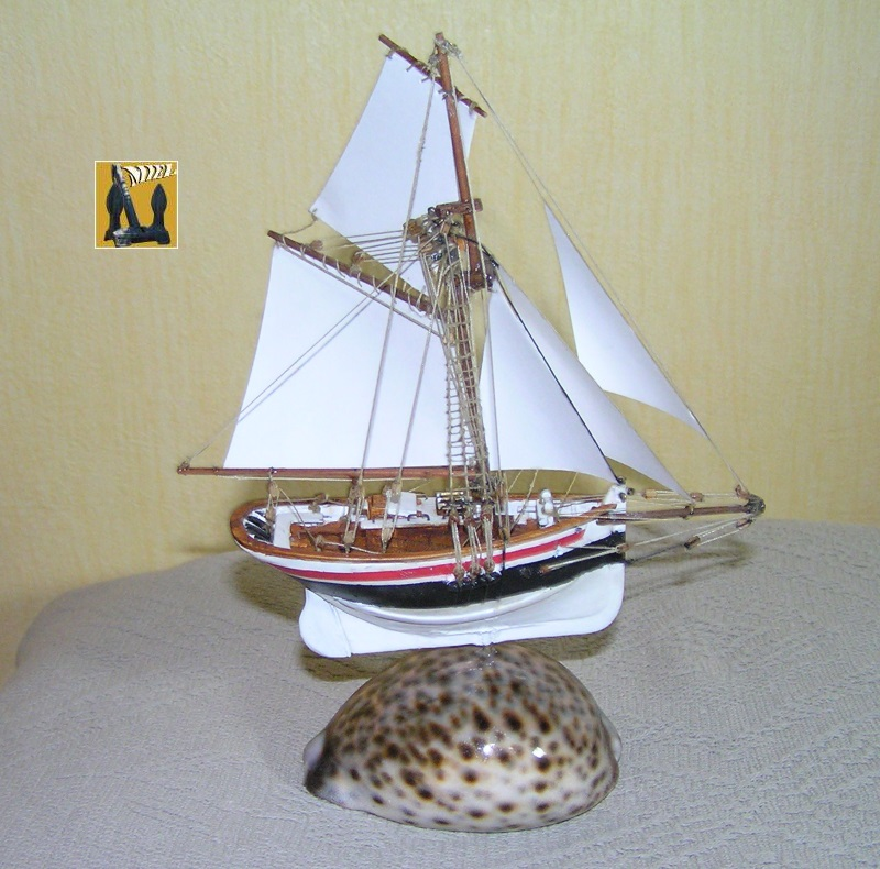 Le St Michel II cotre de Jules Verne en bareau-moule Ech: 1/1350 ème 4610