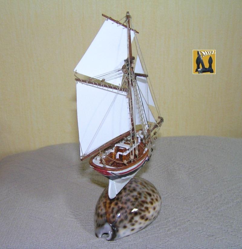 Le St Michel II cotre de Jules Verne en bareau-moule Ech: 1/1350 ème 4710