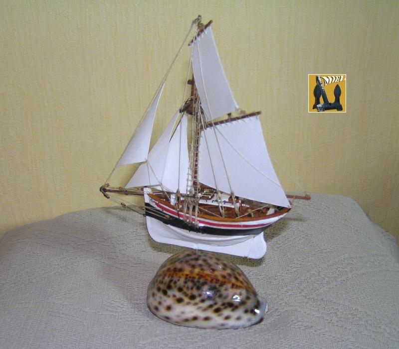 Le St Michel II cotre de Jules Verne en bareau-moule Ech: 1/1350 ème 4810