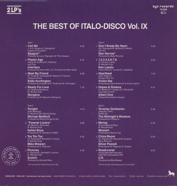 THE BEST OF ITALO DISCO R-461511
