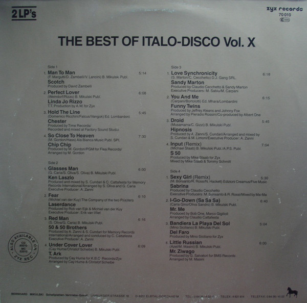THE BEST OF ITALO DISCO R-461513