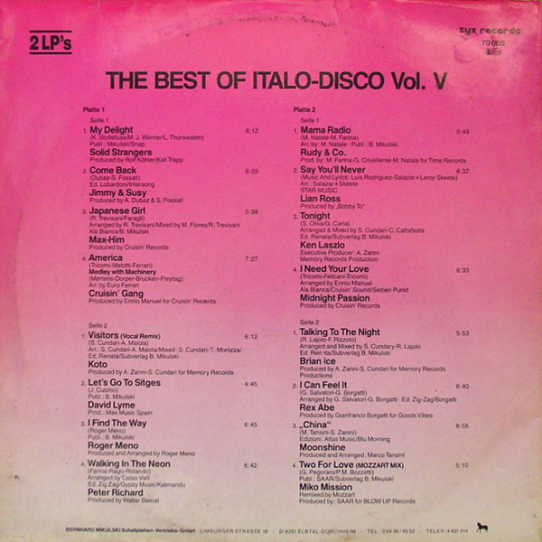 THE BEST OF ITALO DISCO R-556211