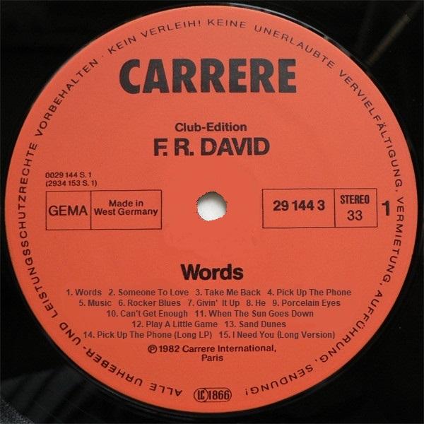 F.R.DAVID R-755410
