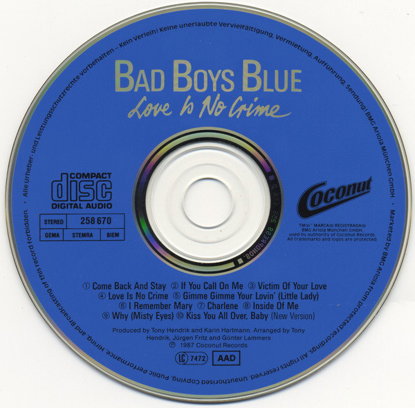 BAD BOYS BLUE R-757015