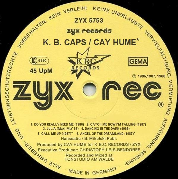 K.B. CAPS (CAY HUME) R-861410