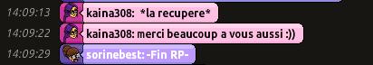 [R.] Rapports d'actions RP de sorinebest  Rp1c13