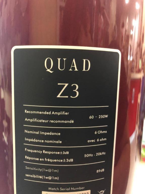 QUAD Z3 floorstand speaker (Repost, Price Reduced) Quad_z11