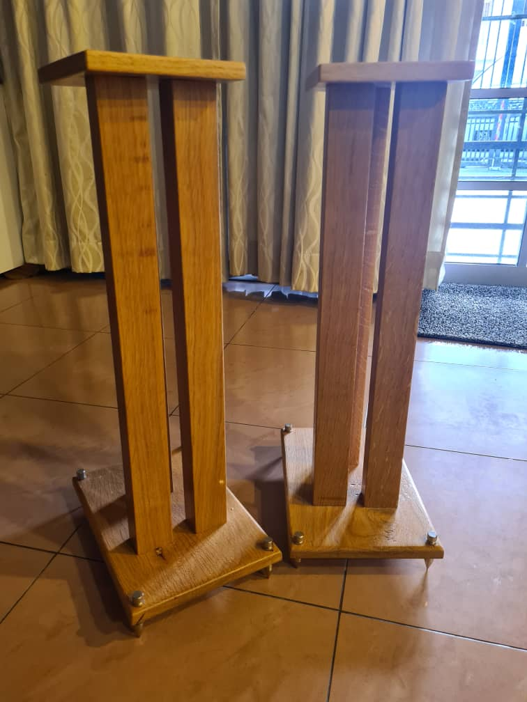 Solid oak wooden speaker stand Whats107