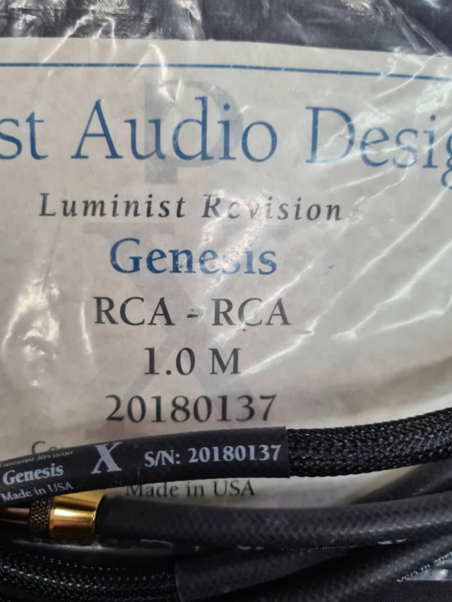 PAD Genesis RCA to RCA Interconnect Cables Luminist Revision (1m) (SOLD) Whats194