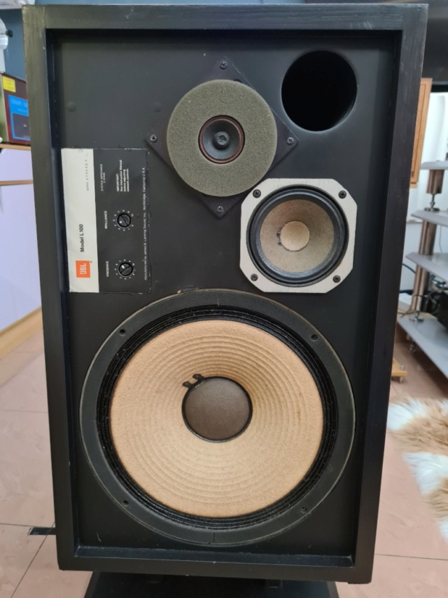 JBL L100 with DIY stand Whats219