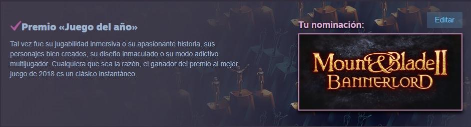 Los Premios de Steam 210