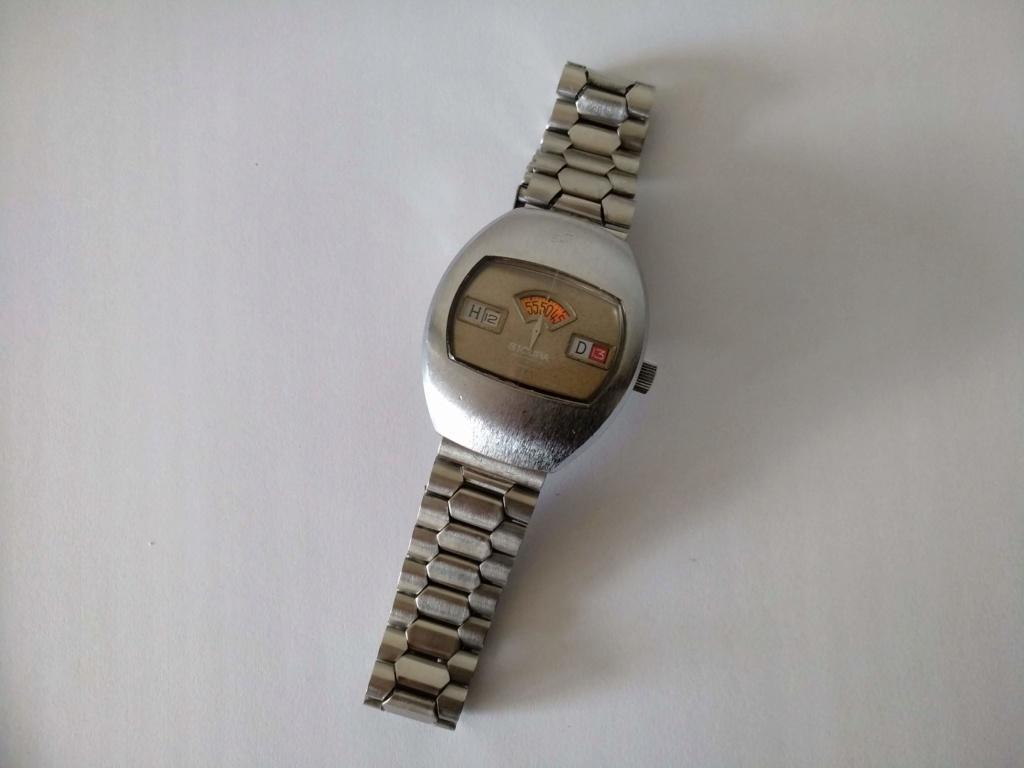 [Vendido] Sicura (Breitling) relógio de discos Mecânico Automático vintage em Estado Original 111