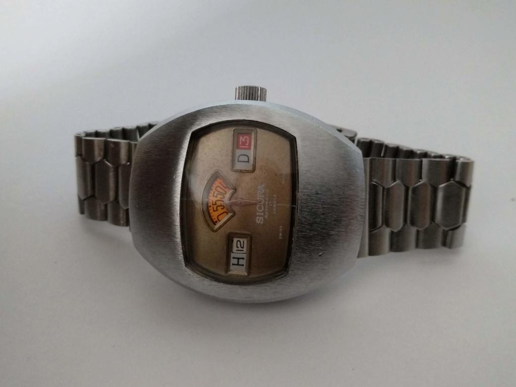 [Vendido] Sicura (Breitling) relógio de discos Mecânico Automático vintage em Estado Original 611