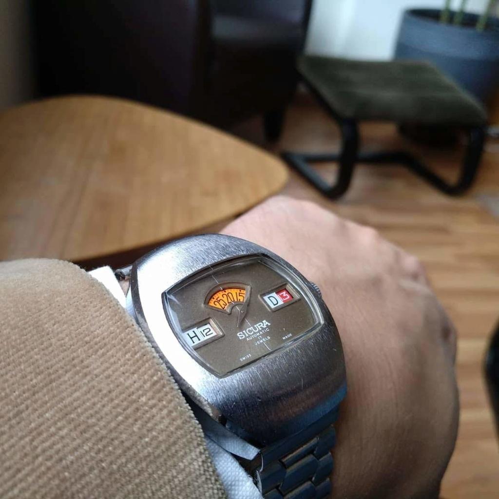 [Vendido] Sicura (Breitling) relógio de discos Mecânico Automático vintage em Estado Original 810