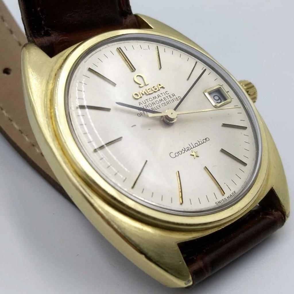 [Vendido] Omega Constellation, plaqueado a ouro com bisel em ouro maciço Cal. 564, 1967, Chronometer Img_2024