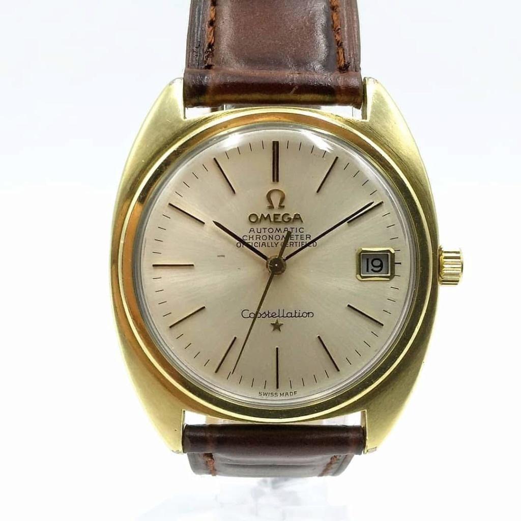 [Vendido] Omega Constellation, plaqueado a ouro com bisel em ouro maciço Cal. 564, 1967, Chronometer Img_2026