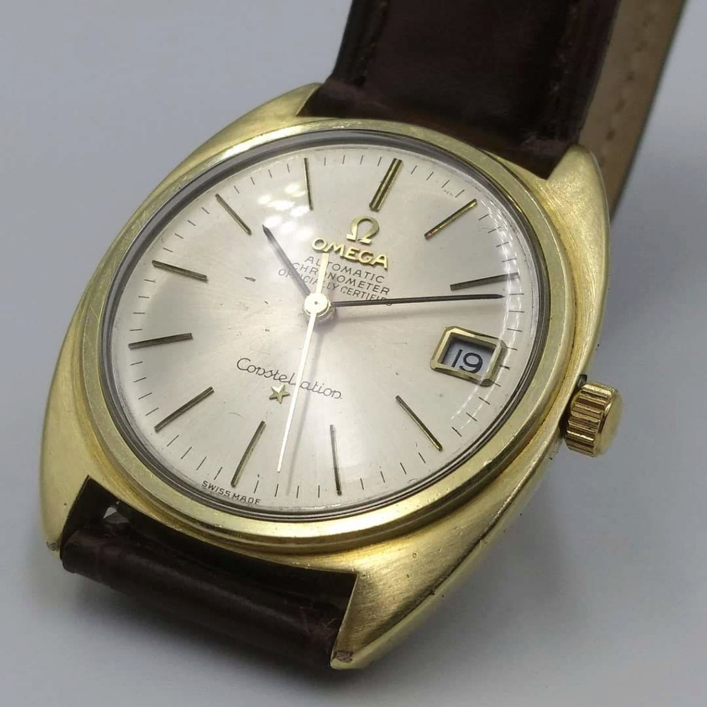 [Vendido] Omega Constellation, plaqueado a ouro com bisel em ouro maciço Cal. 564, 1967, Chronometer Img_2029