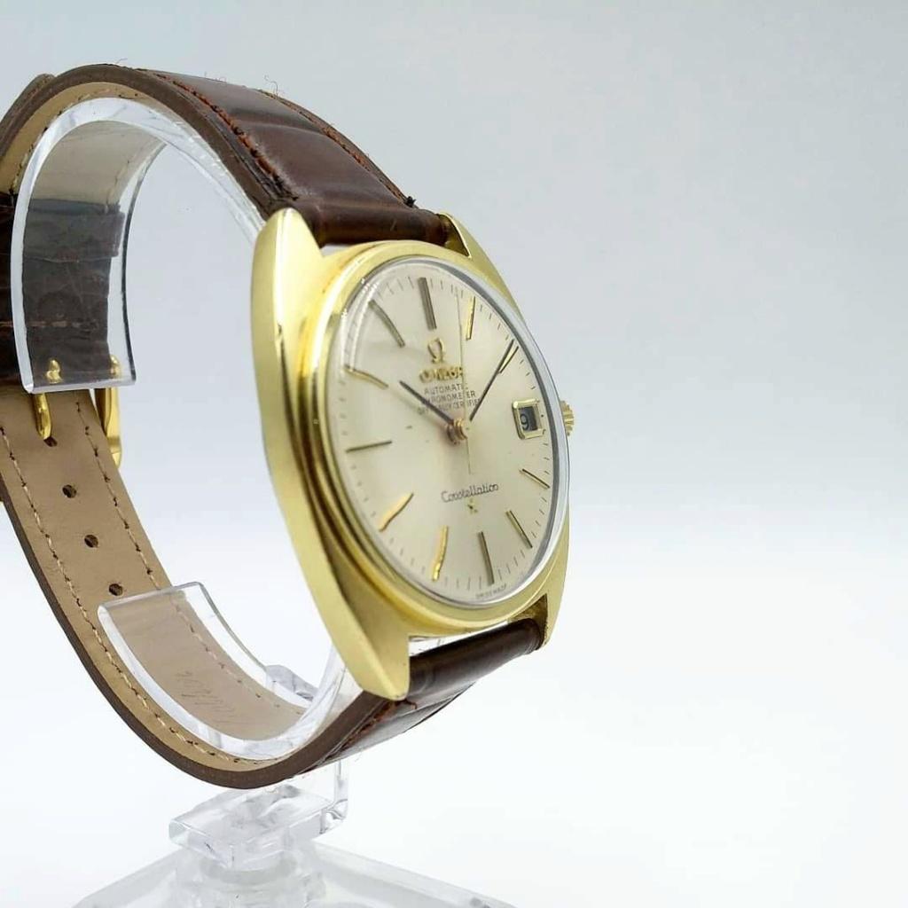 [Vendido] Omega Constellation, plaqueado a ouro com bisel em ouro maciço Cal. 564, 1967, Chronometer Img_2030