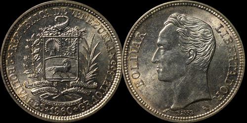 2 Bolívares 1960. República de Venezuela. 2boliv10