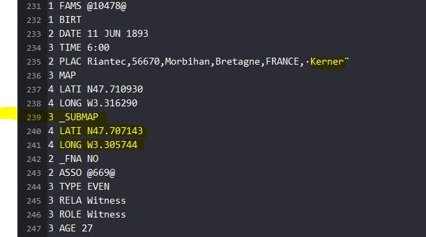 [Résolu] Gedcom H2020, un intrus ??? Submap11
