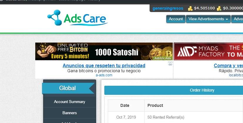 [PAGANDO][COMPLETA] Compartida compra referencia  rentadas  en ADSCARE del Grupo CLIXCARE Compra10