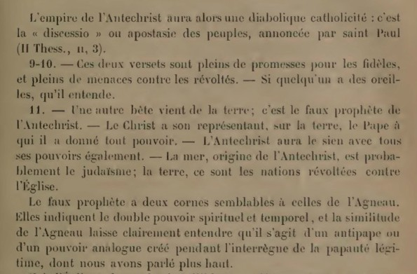 « ..il n'y aura plus de papauté, et l'Antechist pourra se manifester.. » 71-34f10