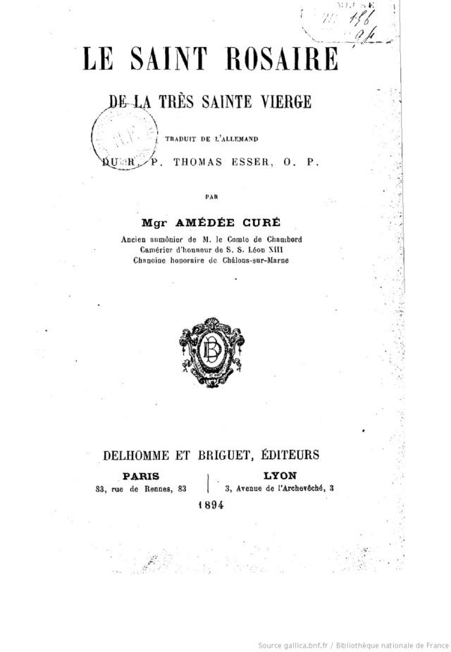 Etablissement de la Confrérie du Très Saint Rosaire Te Deum Laudamus - Page 2 Le_sai16