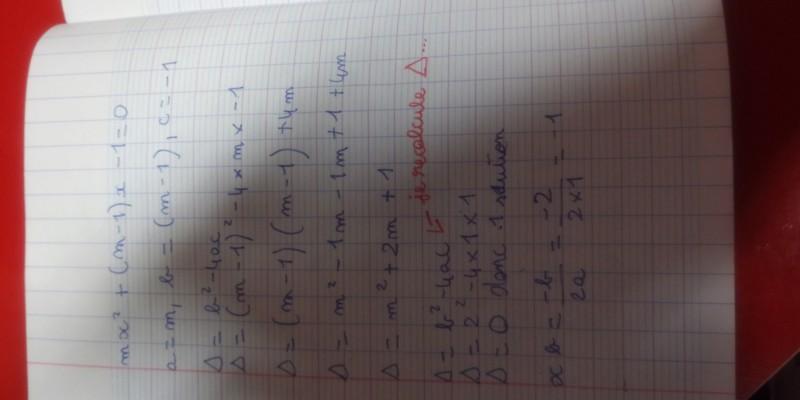 Discuter le nombre de solutions d'une équation 20191011