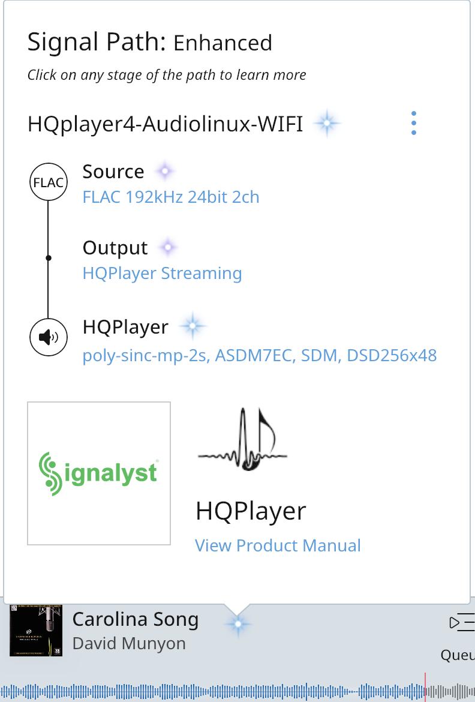Por favor, alguién que sepa la integración de HQ Player en Roon Screen11