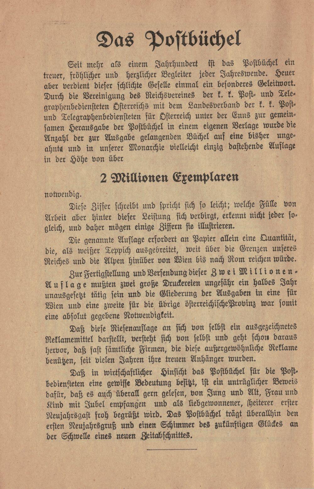 Postbüchl - Das kleine Postbuch 1914_a10