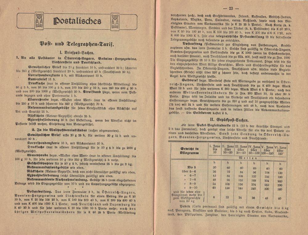 Postbüchl - Das kleine Postbuch 1914_g10