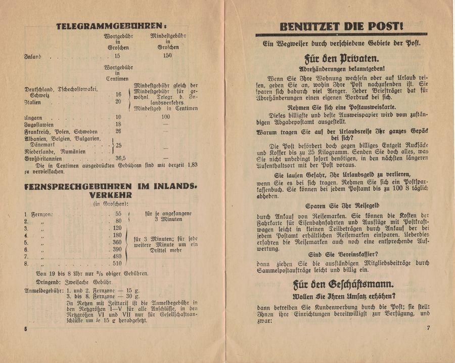 Postbüchl - Das kleine Postbuch 1935_i11