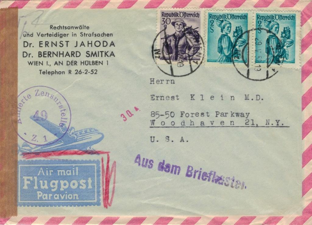 Trachtenserien ANK 887 - 923 und 1052 - 1072 Belege - Seite 14 Flugpo11