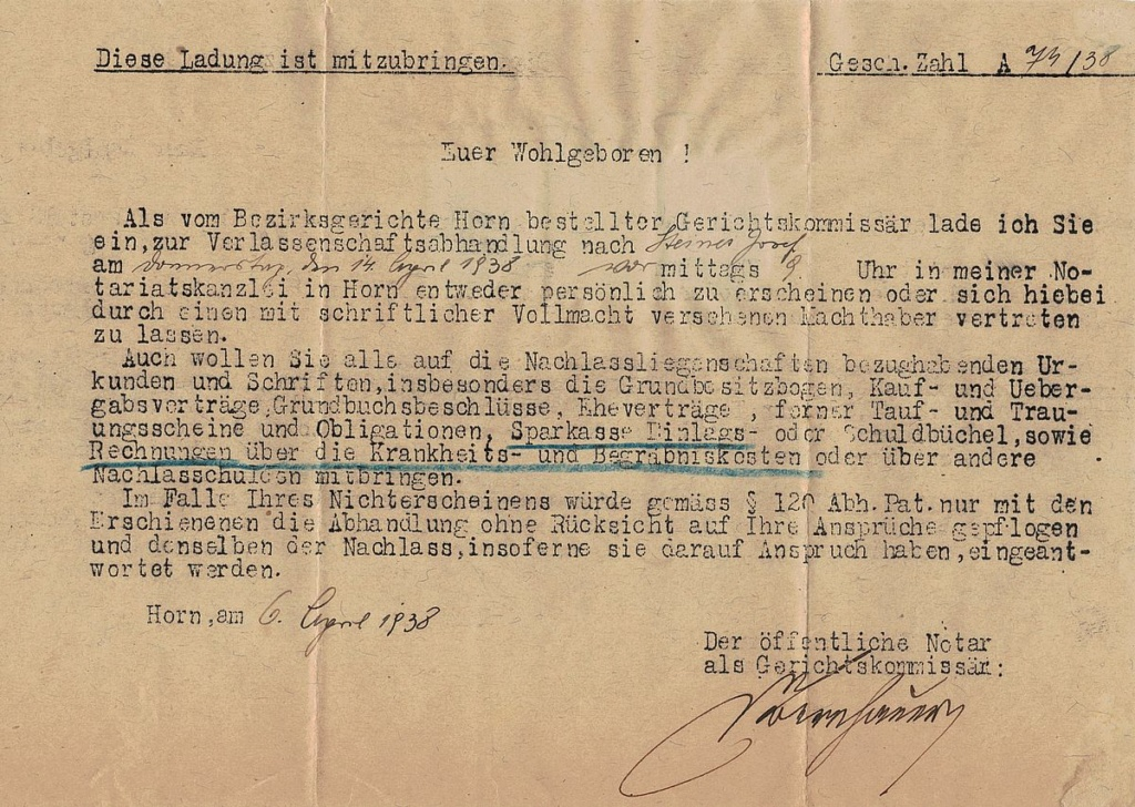 Österreich im III. Reich (Ostmark) Belege - Seite 25 Horn_r10