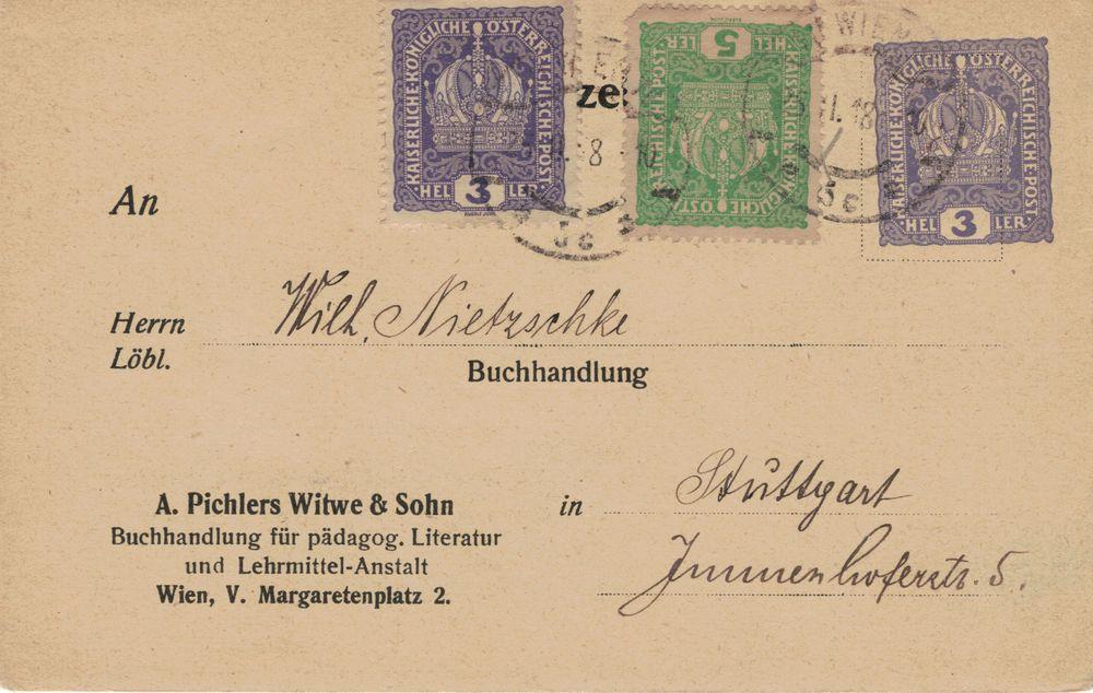 Privatganzsachen von A. Pichlers Witwe & Sohn Karte10