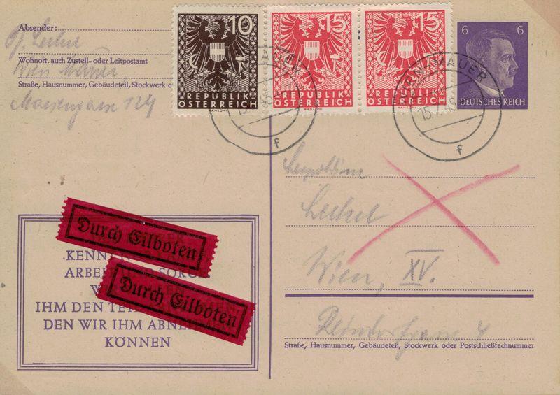 Wappenzeichnung  -  ANK 714-736 - Belege - Seite 5 Karte_12