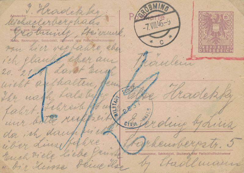 Wappenzeichnung  -  ANK 714-736 - Belege - Seite 5 Karte_13